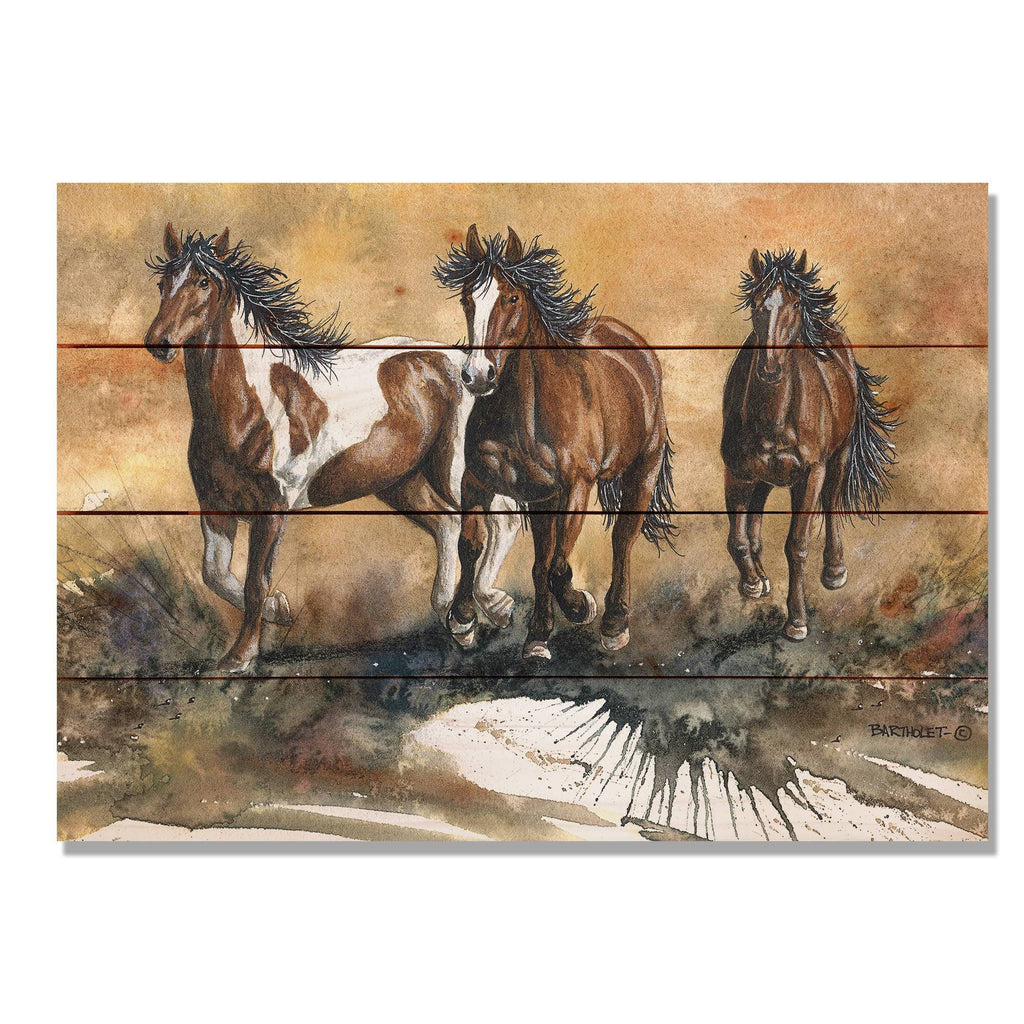 Touch of Wild by Dave Bartholet - Horse Wood Wall Art DaydreamHQ 20x14
