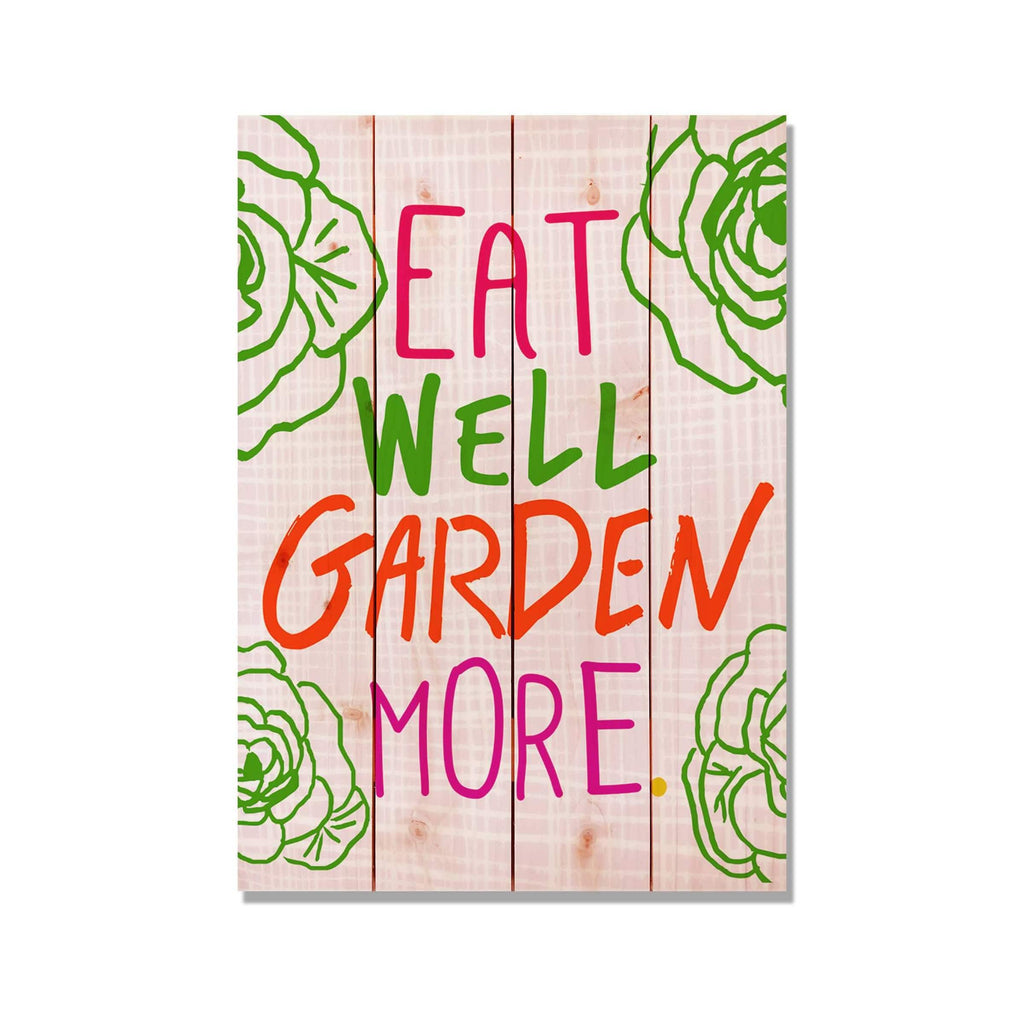 Eat Well Garden More - Garden & Kitchen Wood Wall Decor DaydreamHQ 14x20
