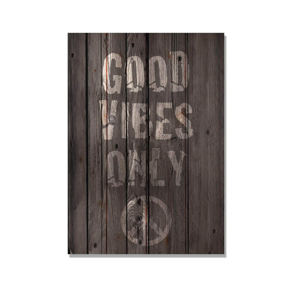 Good Vibes Only - Wood Wall Decor DaydreamHQ 14x20