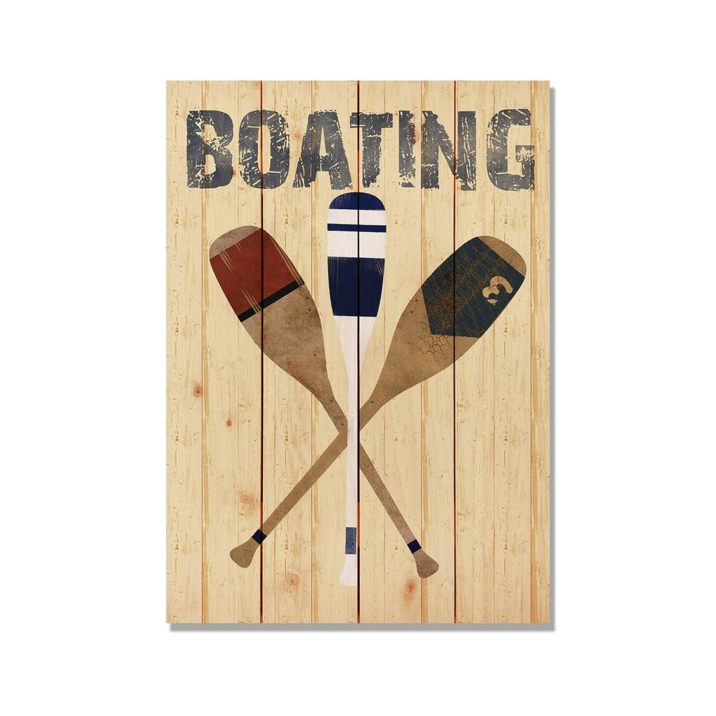 Boating Paddles - Canoe Wood Wall Decor DaydreamHQ 14x20
