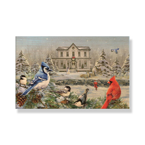 Giordano's Winter Birds - Solid Wood Postcards - Pack of 5