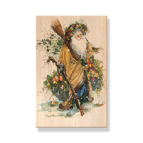 Abrams' Santas - Mailable Wood Postcards - 5 pack - 5 pack
