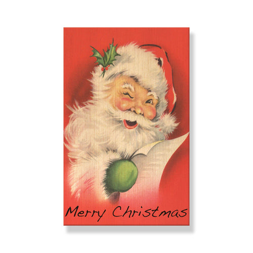 Vintage Santas - Mailable Wood Postcards - 5 pack Daydream HQ Postcard