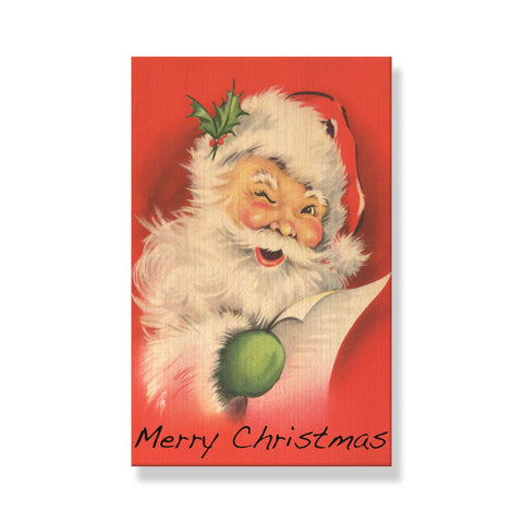 Vintage Santas - Mailable Wood Postcards - 5 pack - 5 pack