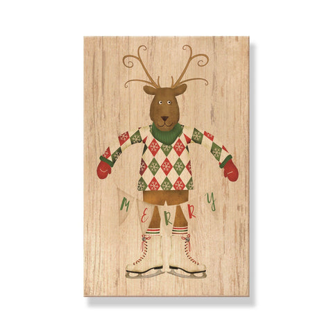 Christmas Cards - Mailable Wood Postcards - 5 pack