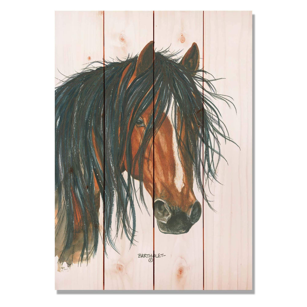 Bad Boy by Dave Bartholet - Horse Wood Wall Art DaydreamHQ 14x20