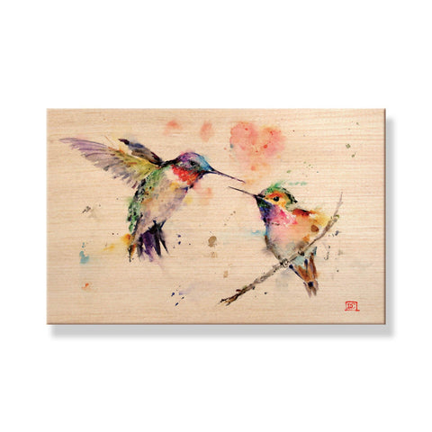 Crouser's Hummingbirds - Solid Wood Postcards - Pack of 5
