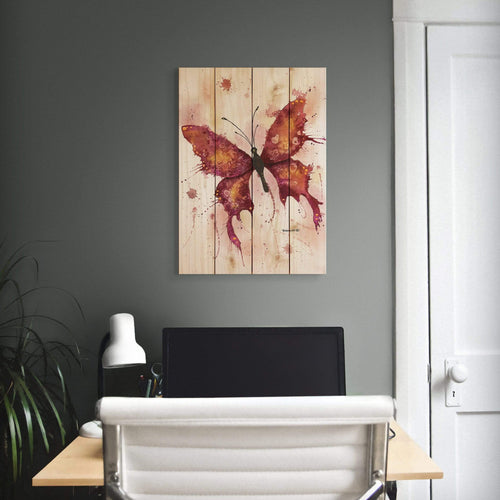 Colorful Butterfly by Dave Bartholet - Wood Wall Art DaydreamHQ