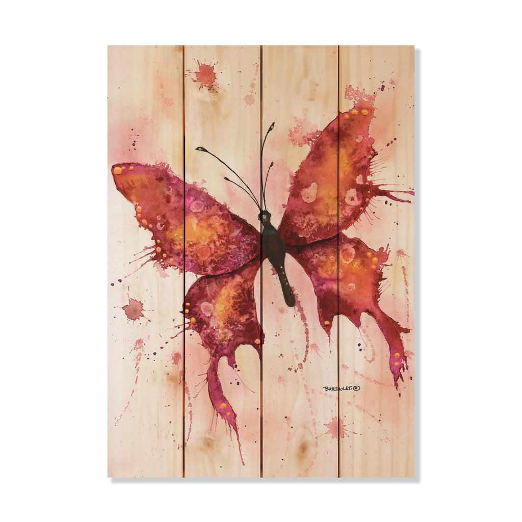 Colorful Butterfly by Dave Bartholet - Wood Wall Art DaydreamHQ 14x20