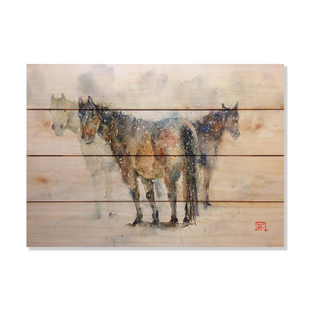 Pals by Dean Crouser - Horses Wood Wall Art DaydreamHQ 20x14
