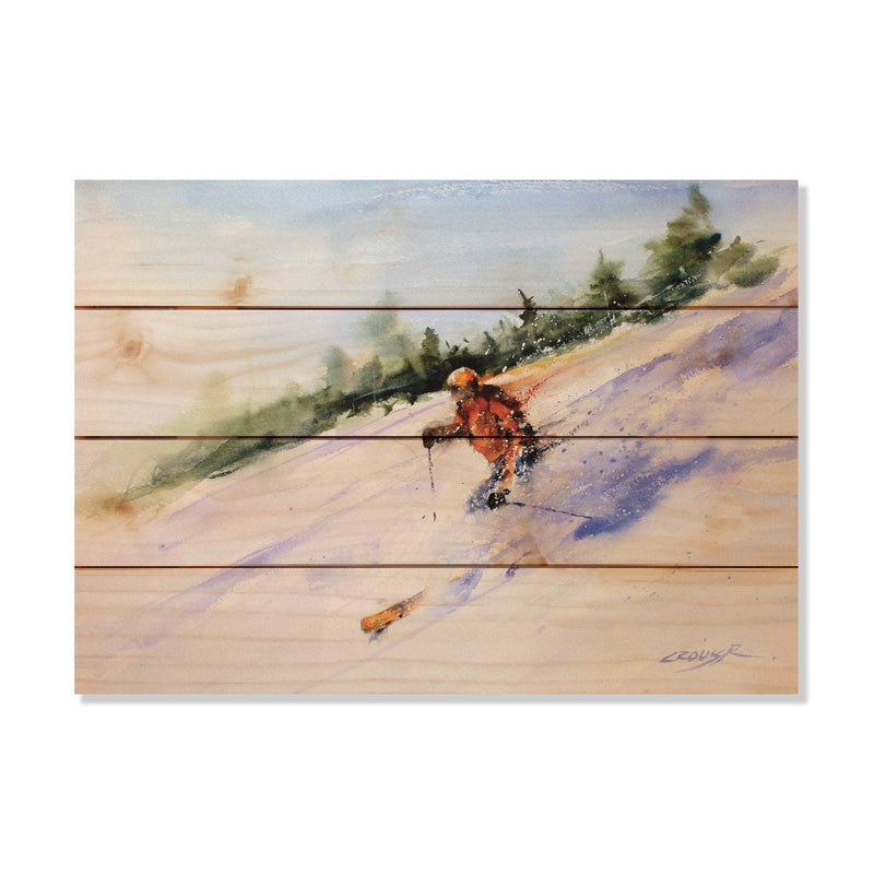 Dean Crouser's Downhill Skier, Skiing Print, Print on Wood, Home Decor (DCDS) DaydreamHQ