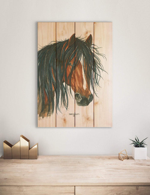 Bad Boy by Dave Bartholet - Horse Wood Wall Art DaydreamHQ