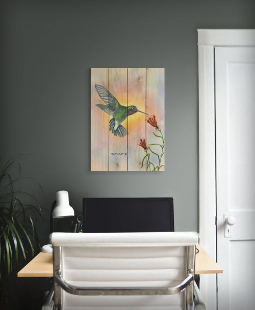 Broadbill by Dave Bartholet - Bird Wood Wall Art DaydreamHQ