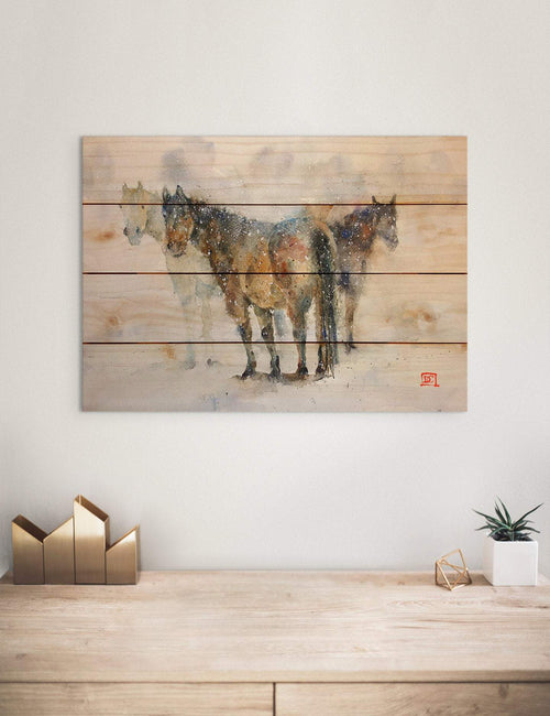 Pals by Dean Crouser - Horses Wood Wall Art DaydreamHQ