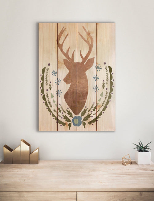 Stagg Christmas Reindeer - Holiday Wood Wall Decor DaydreamHQ
