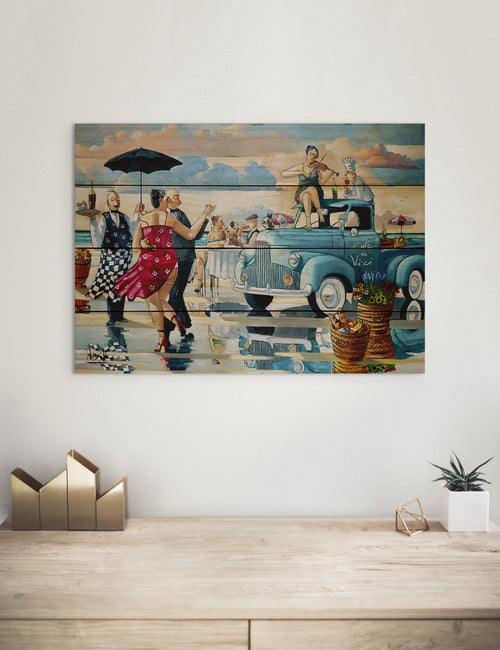 Cafe da Vinci - Colorful Kitchen Wood Wall Decor DaydreamHQ