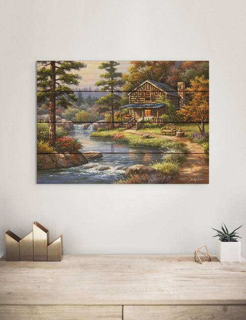 Cool Water by Sung Kim - Nature Wood Wall Art DaydreamHQ