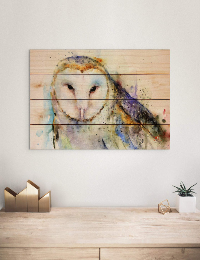 Barn Owl Watercolor Print on Wood Pallet / Bird Wall Hanging Art / Indoor and Outdoor Safe Home Decor (DCBO) DaydreamHQ