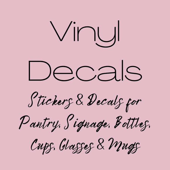 Vinyl Decal Collection