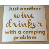 Wine glass decals - Camping