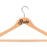 Bride coathanger decal