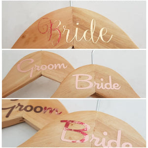 Bridal party coathanger decals