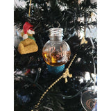 Booze bauble with vinyl name