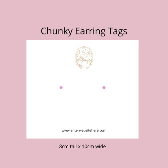 Earrings - Chunky Style 8cm x 10cm