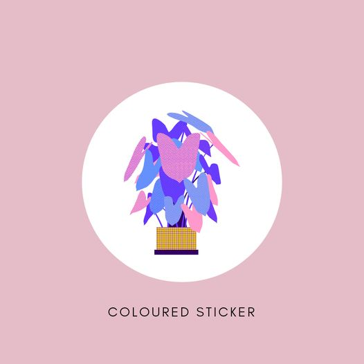 Sticker - Coloured Gloss - All Sizes
