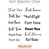 Font selection chart