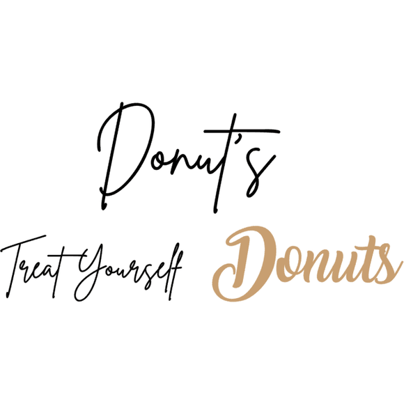 Donut wall sticker for DIY