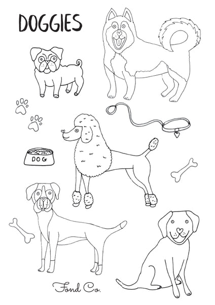 Dog Lovers Colouring in Sheet