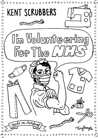 Volunteering for the NHS Kent Scrubbers sewing scrubs