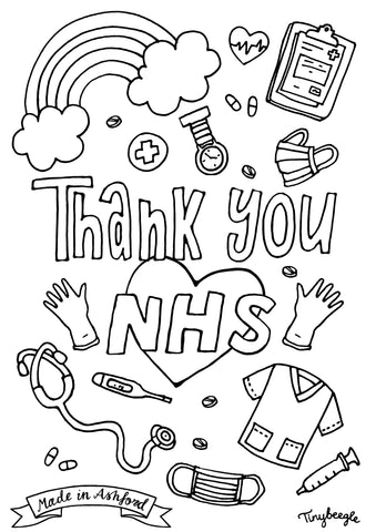 nhs colouring sheet