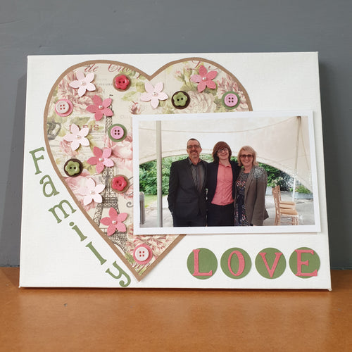 Papercrafted Photo Frame Canvas for Mothers Day Sat 7th March 2-3pm