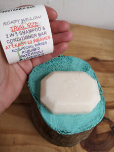 Shampoo and conditioning bar trial size