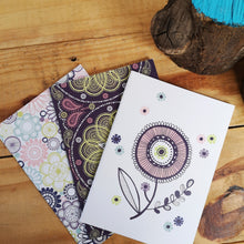 Load image into Gallery viewer, Circles and swirls A5 notebook with blank pages