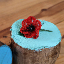 Load image into Gallery viewer, beaded poppy brooch