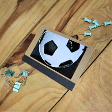 Load image into Gallery viewer, small notebook decorated with a photo of a glass football