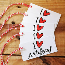 Load image into Gallery viewer, I love Ashford gift tag