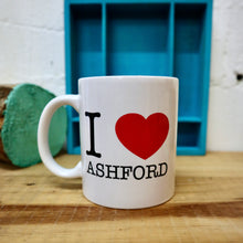 Load image into Gallery viewer, I love Ashford type mug