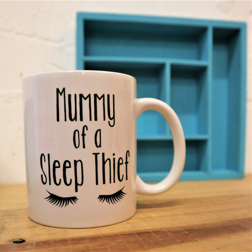 Mummy of a sleep thief mug