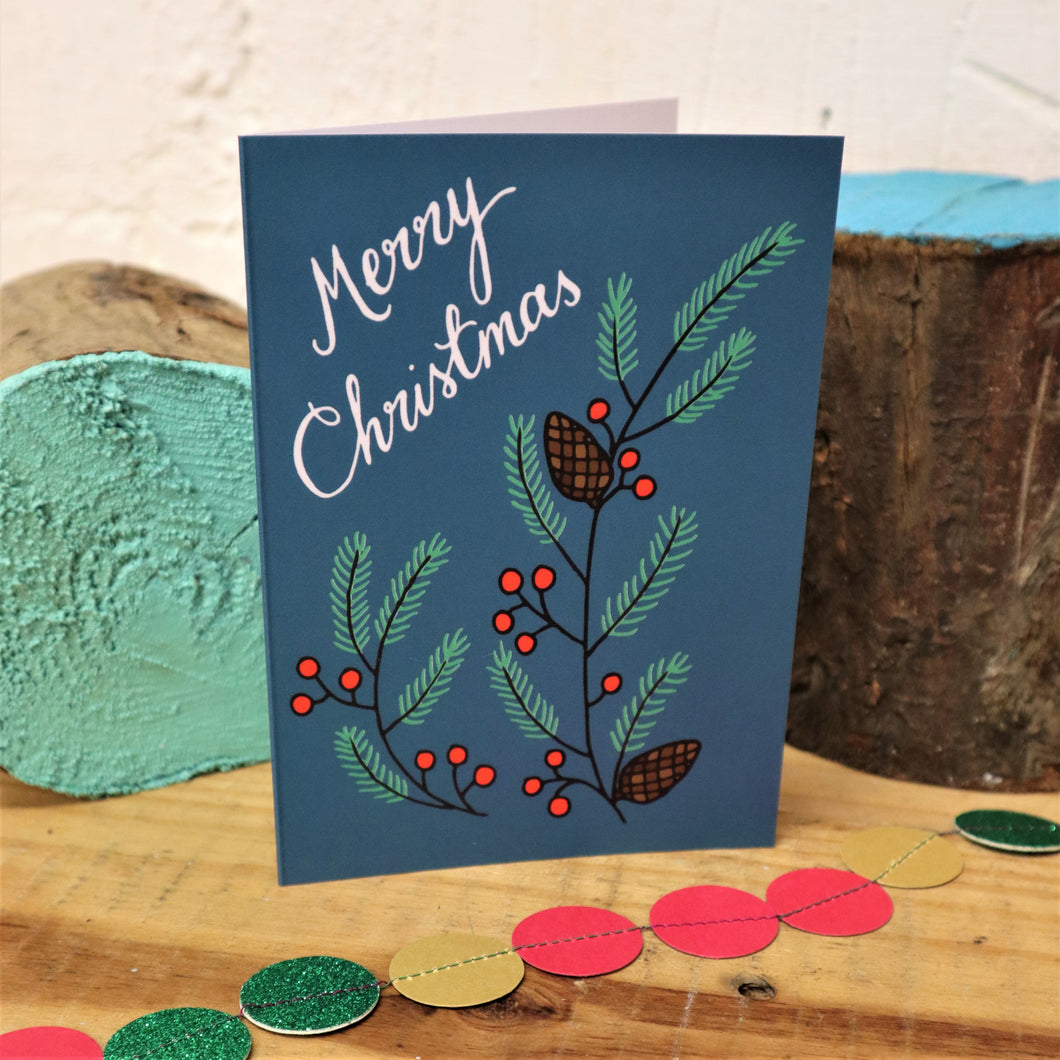 Pinecone Christmas card