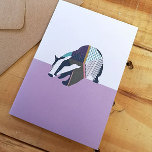 Badger Greetings Card