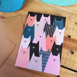 Cat club Greetings Card