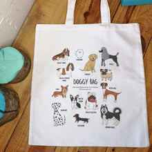 Load image into Gallery viewer, Doggy Bag, illustrated dog tote bag