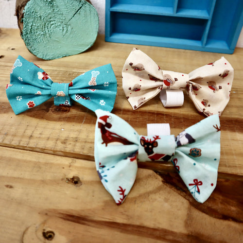 Dog collar bows - large