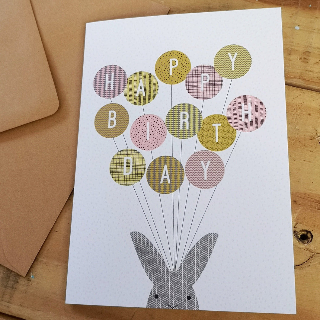 Happy Birthday Bunny Greetings Card