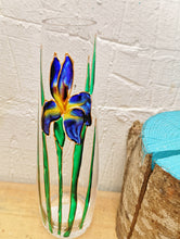 Load image into Gallery viewer, Hand painted Iris stem vase