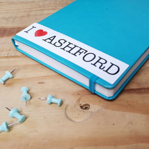 I love Ashford sticker rectangle